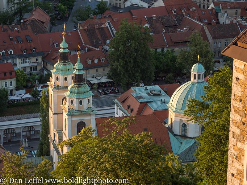 Slovenia Ljubljana View from Castle Fortress