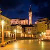 Slovenia Coast City of Piran Street Scene