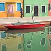Venice Italy Island of Burano Reflections