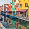 Venice Italy Island of Burano Reflections