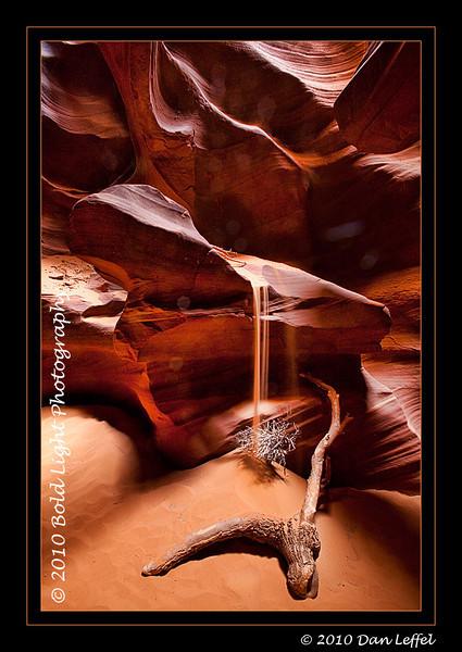 Sandfall;Upper Antelope Slot Canyon on Navajo Land, outside of Page, AZ