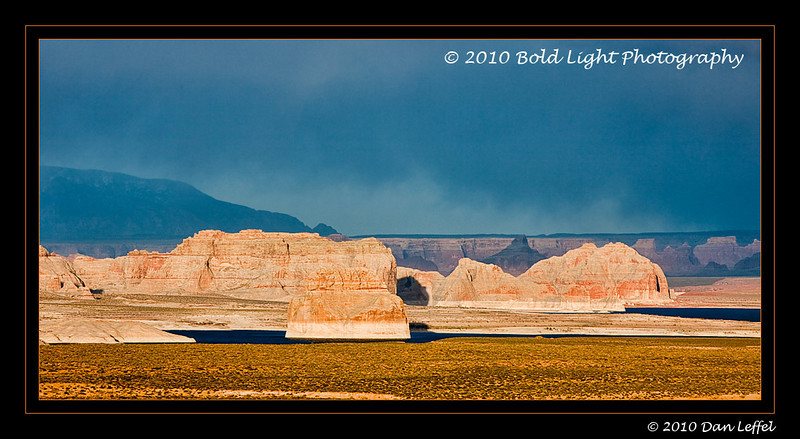 Storm light over Lake Powell, outside Page, AZ