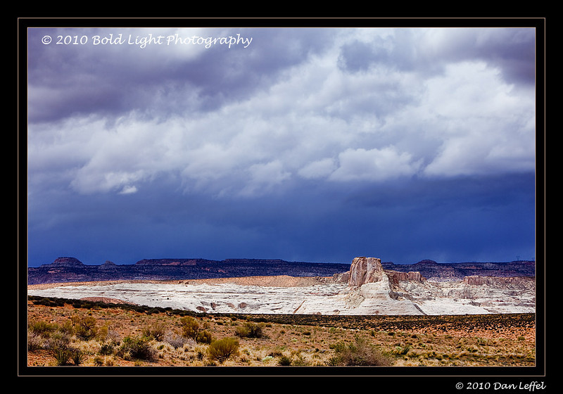Storm light outside of Page, AZ