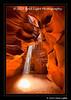 Double sun beam; Upper Antelope Slot Canyon on Navajo Land, outside of Page, AZ