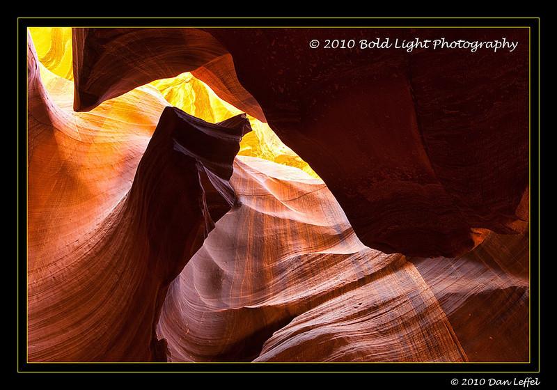 Upper Antelope Slot Canyon on Navajo Land, outside of Page, AZ