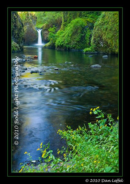 Oregon Punchbowl Falls, Columbia River Gorge - July 2010