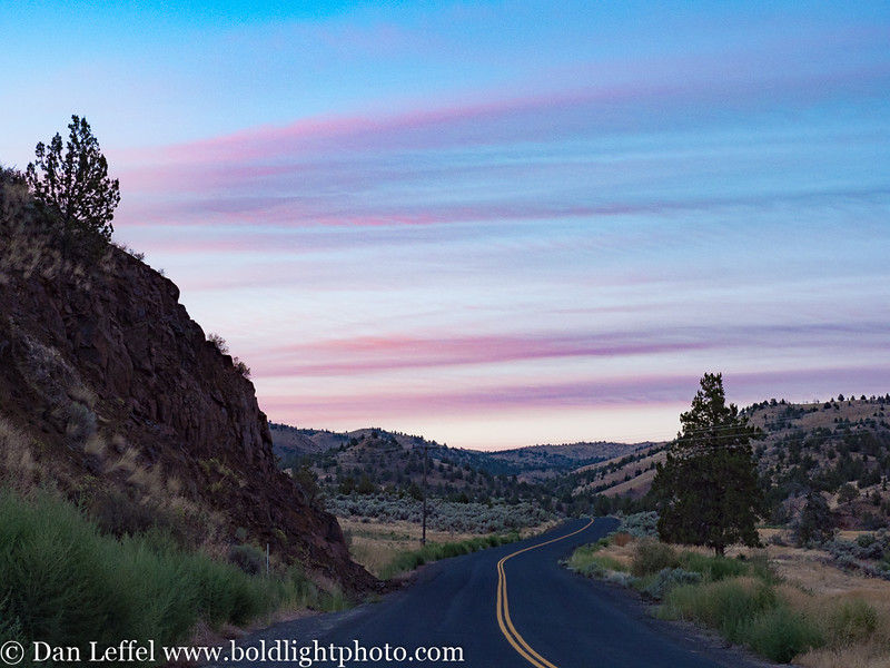 Sunrise on morning of eclipse - John Day Painted Hills area