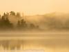 Foggy Sunrise Oregon Lake