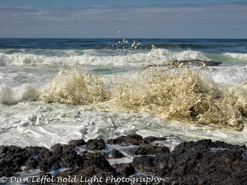 Crashing Waves Cape Perpetua Oregon Coast