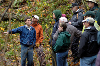 """October 31, 2009 """"Trees as Environmental Historians"""" hike led by Dr. Neil Pederson, Assistant Professor, from EKU."""