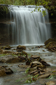 Stock image of waterfall on Trimble Creek, a tributary to Lower Howard's Creek in the Kentucky Bluegrass. This area is now part of the Lower Howard's Creek Heritage Park and State Nature Preserve.