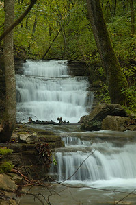 Stock image of waterfalls on Trimble Creek, a tributary to Lower Howard's Creek in the Kentucky Bluegrass. This area is now part of the Lower Howard's Creek Heritage Park and State Nature Preserve.