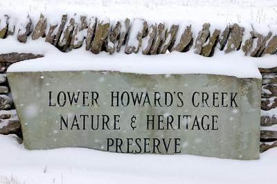 Winter Scenes on Lower Howard's Creek