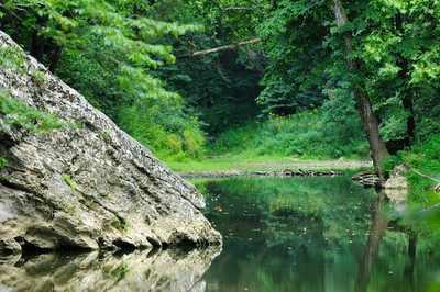 Red River, a National Wild and Scenic River , in the Clifty Wilderness area of the Red River Gorge Geological Area located in the Daniel Boone National Forest of Kentucky