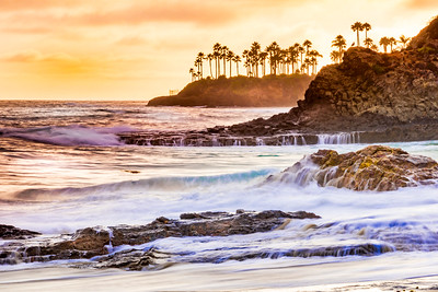 Laguna Beach at Sunset