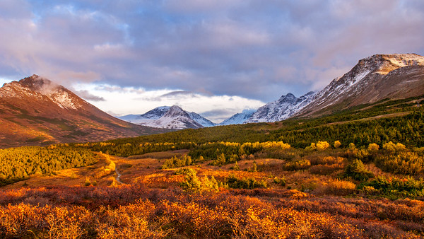 Autumn Sunset in Alaska