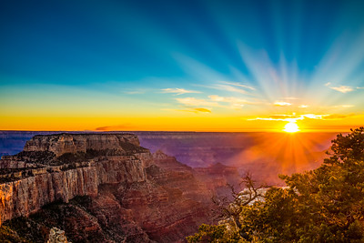 Sunset at the Grand Canyon North Rim