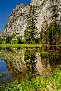 Mountain Reflection Yosemite Valley
