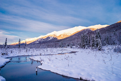 Eagle River Winter Scene