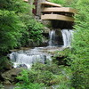 Falling Water on Frank Lloyd Wright House Picture