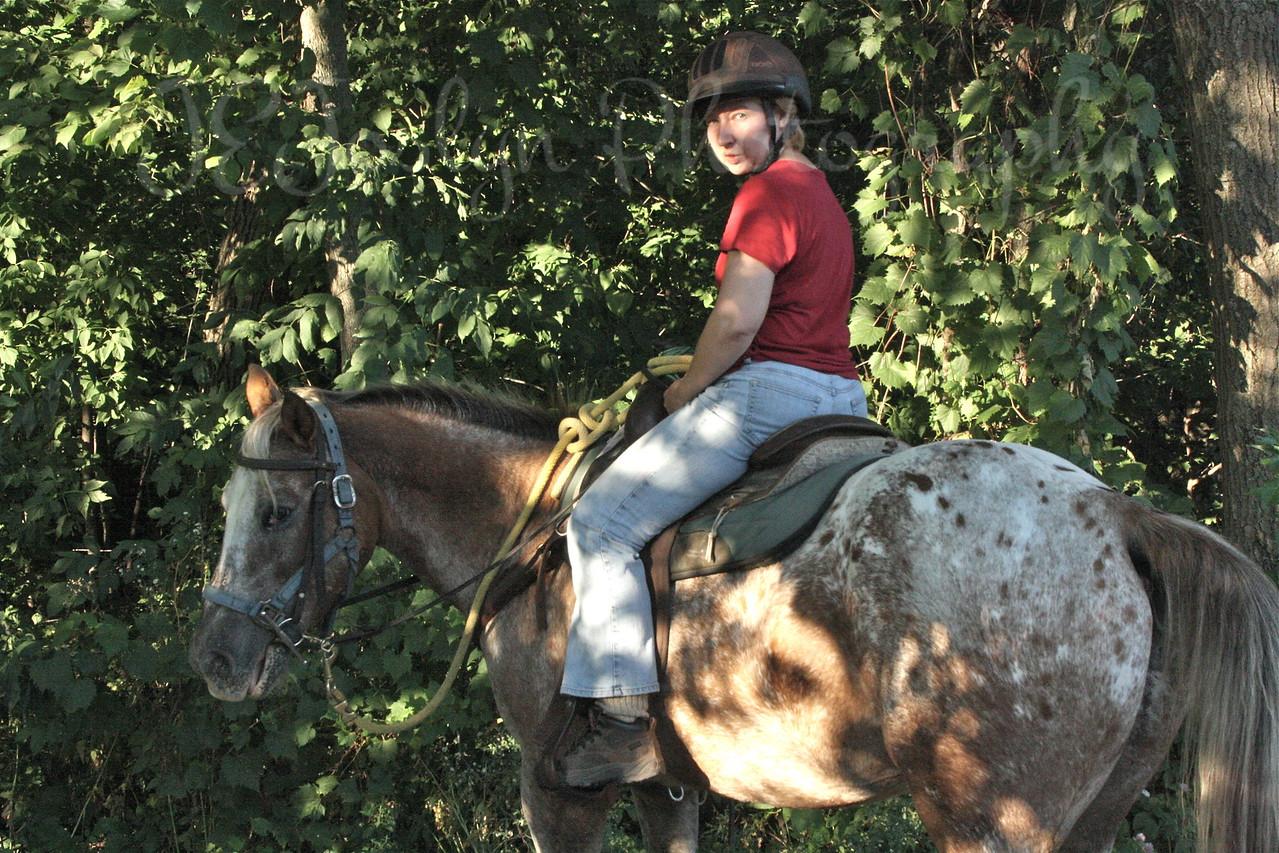 SNOWCAP - Horse Trip-Forestville MN State Park-8-28-10