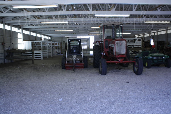 Bunker Stables - main barn, stalls and equipment.  5-2-09