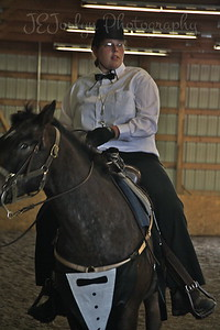 Bunker Stables-Drill Team fun May 16, 2010.  Sarah with Spirit