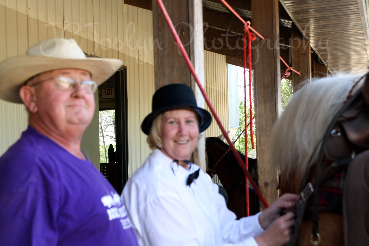 Bunker Stables-Open House fun May 16, 2010.   Cindra and Doug