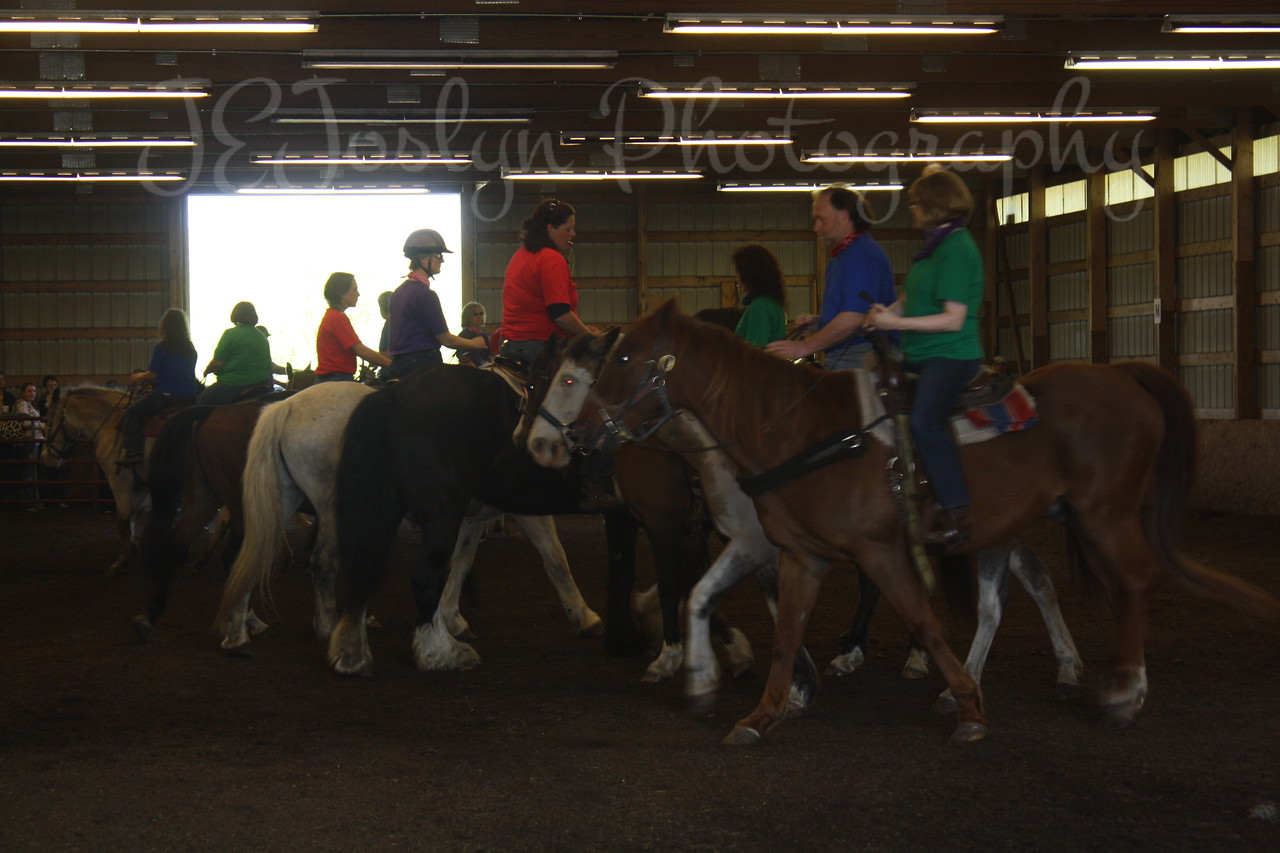 Bunker Stables, Anoka, MN, May 17, 2009, Drill Team Exibition - members are students and staff.