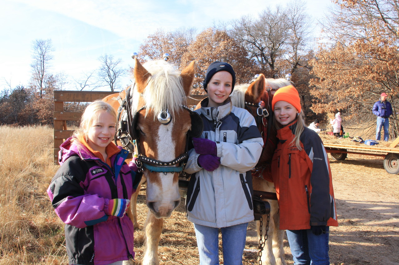 Hay ride for Bunker Stable lesson students and their family.  December 18, 2011, yet was almost 35 degrees.