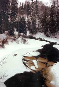 Cascade River, near Grand Marais, Minnesota, mid January, still not frozen.