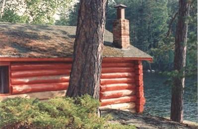 Red cabin - Burntside Resort, Burntside Lake, Ely, Minnesota.