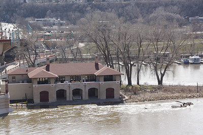 Mississippi River, St. Paul, MN, 3-24-2010 flood stage.