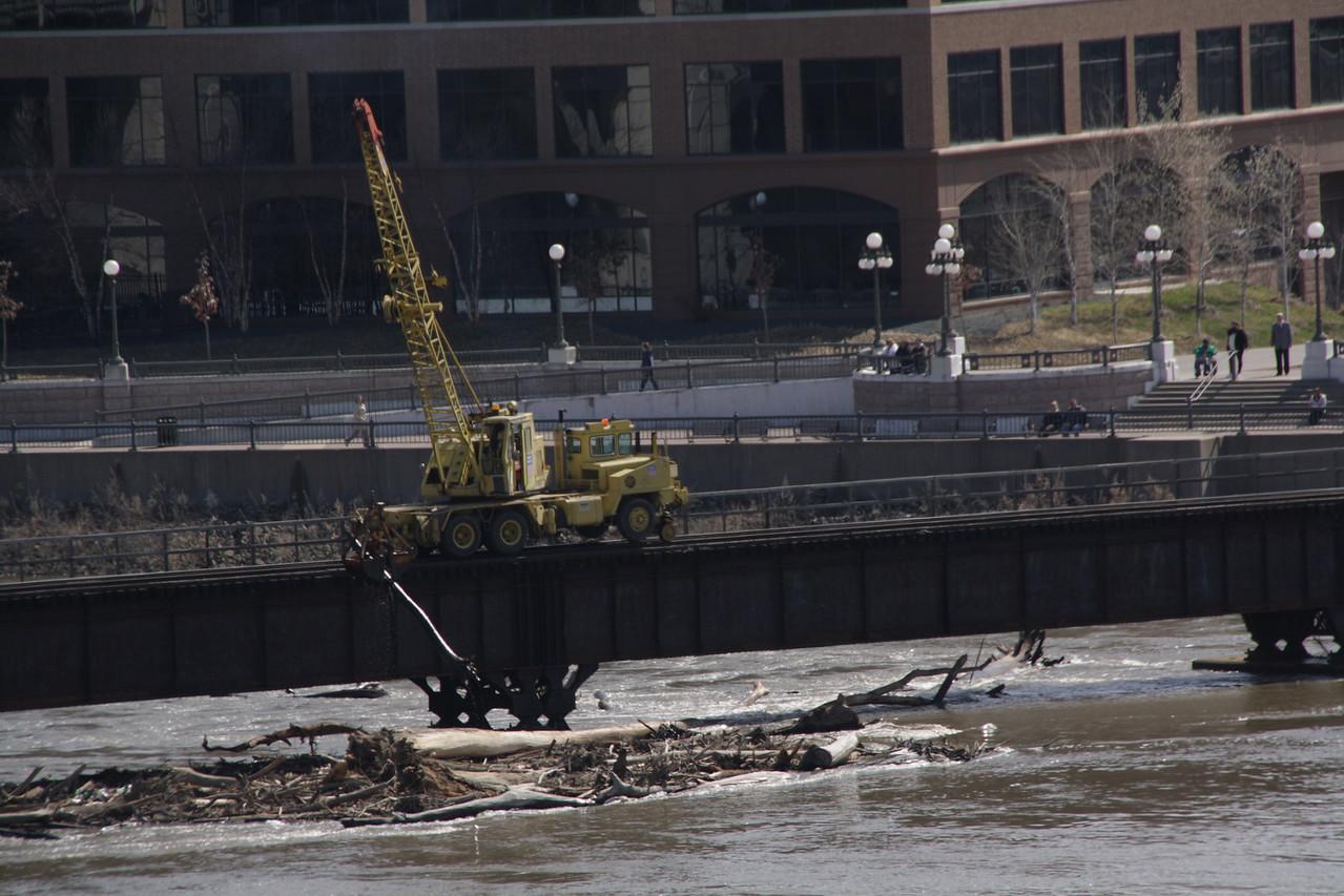 Mississippi River, St. Paul, MN, 3-24-2010 flood stage.