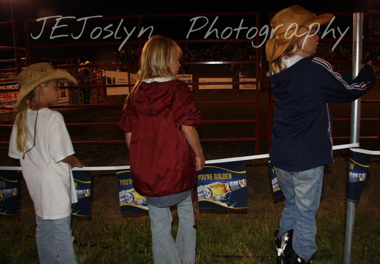 Hamel Rodeo - July 2009, GD3, GD1 and GD2 watching from the sidelines.