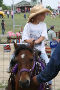 Hamel Rodeo - July 2009.  GD3 pony rides at the Rodeo