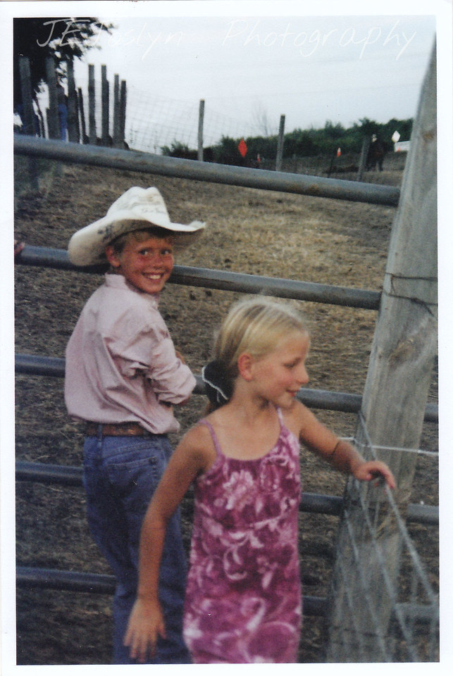 Hamel Rodeo.  Hamel, Minneosta, 2007  GD-1, 8 years old and local cowboy Troy.