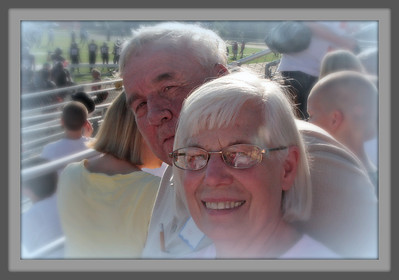 Classmates at 50th reunion of 1961-Osseo - Football game