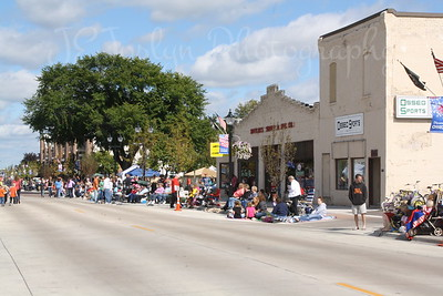 Lions Roar Parade-9-11-2010   two buildings are originally - Ed Killmers Buick Dealership (built 1918), and Killmer Electric.