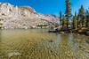 Carolita Ines at Blue Lake, John Muir Wilderness, CA