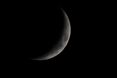A crescent moon on June 6, 2011