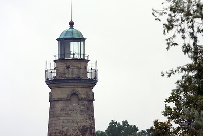 The Grand River Lighthouse in Fairport Harbor, Ohio, on Lake Erie