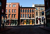 Downtown Portland, Maine in the Old Port Area of the City.  Photograph by Jeff Scher