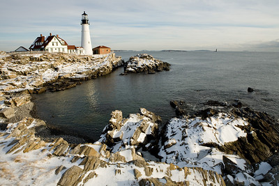 Portland Head Light located at Ft William Park in Cape Elizabeth, Maine. This images was captured on a frigidly cold day on January 18th, 2007.