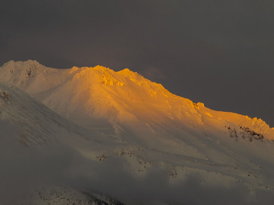 Mt. Shasta at sunset