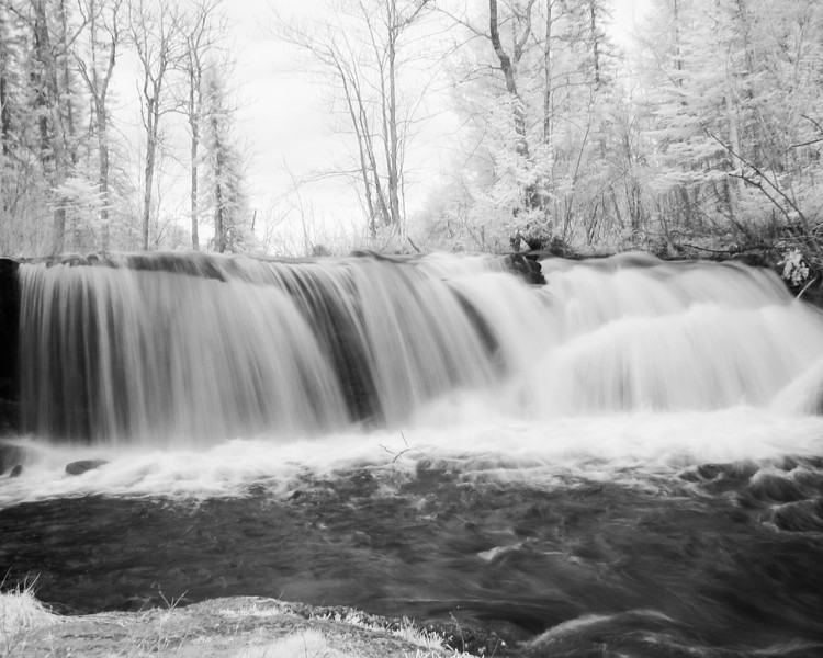 Even though it was a overcast day, I decided to get a few Infrared photos of Raleigh Falls.<br /> <br /> Canon G5 modified to take IR photos.