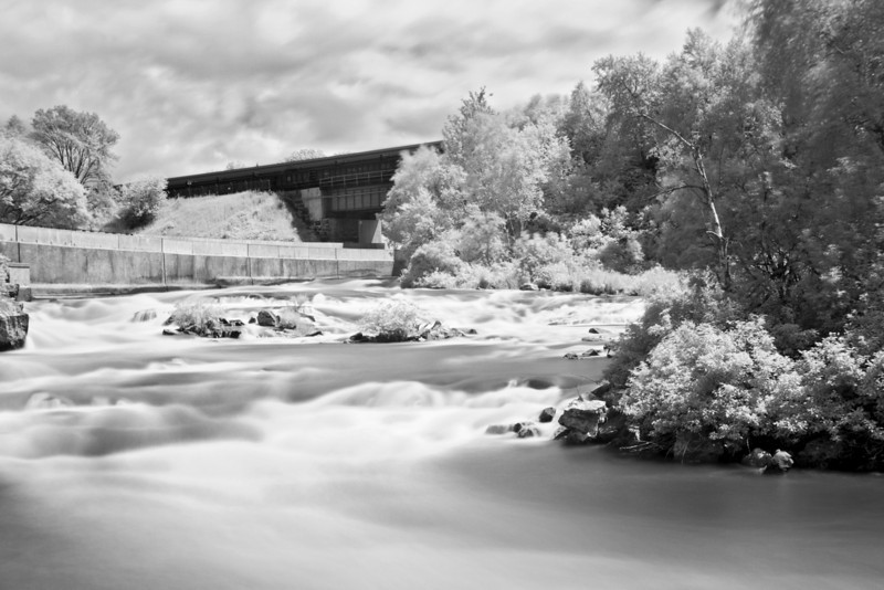 Wabigoon River in Dryden Ontario. Photo taken with a Canon 7D, Tamron 17-50mm lens with a Hoya R72 infrared filter. This was a 30 second exposure at F5.0, and 400 iso.