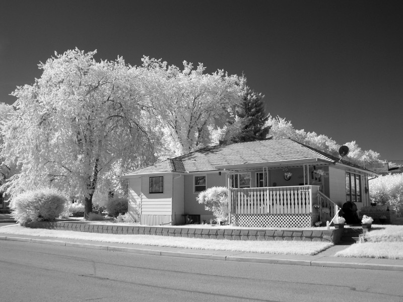 Photo of my parents home, taken with a Canon G5 modified to shoot IR.
