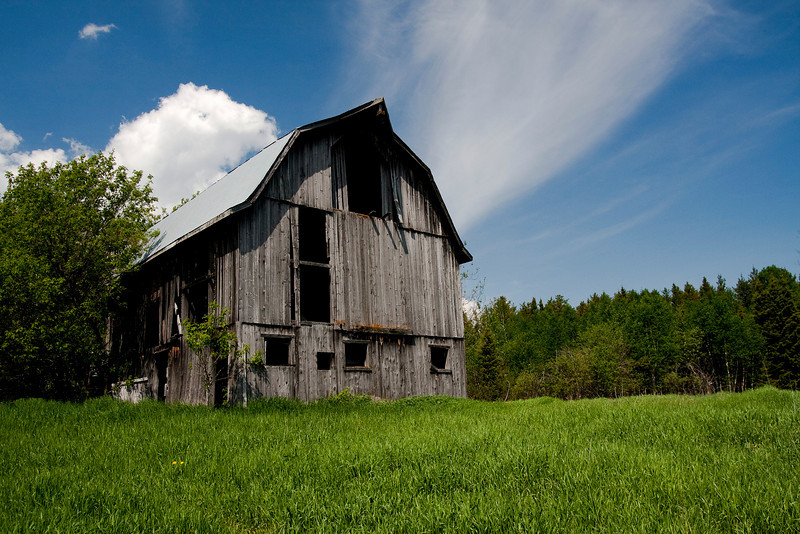 An abandoned barn just outside of Dryden.
