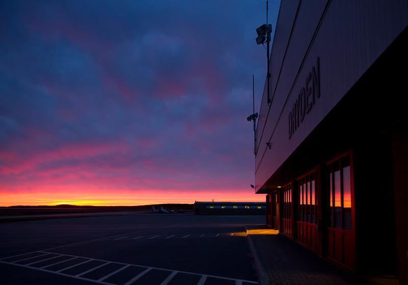 September 27, 2010 at 6:54 am. Dryden Airport.